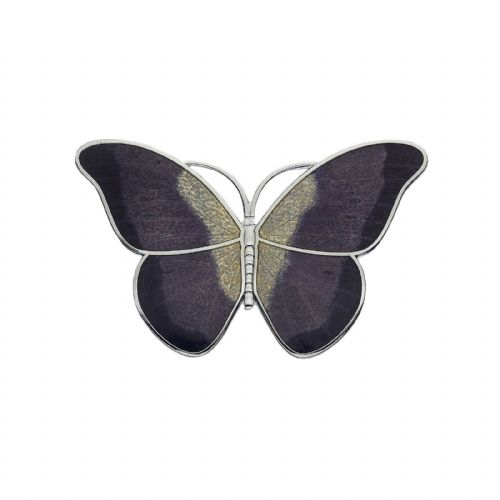 Large Purple Butterfly Brooch Silver Plated Brand New Gift Packaging